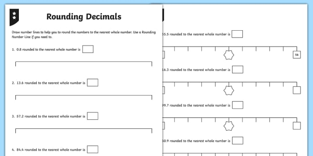 Rounding Decimals Differentiated Worksheet / Activity Sheets