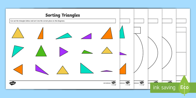 Sorting Triangles Resource Pack