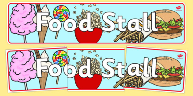The Fairground Food Stall Role Play Banner - fairground, food stall banner, fairground banner, food stall display banner, food stall role play