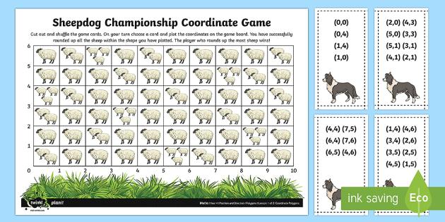 Sheepdog Championship Coordinates Game - Position, direction, coordinates, first coordinate, co-ordinates
