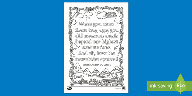 Isaiah 643 Mindfulness Coloring Page Bible Verse Memory Rhtwinkl: Bible Coloring Pages Isaiah At Baymontmadison.com