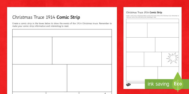 Christmas Truce L1 Storyboard Template -  KS3/4 History Christmas Resources, Trench Warfare, The Christmas Truce, 1914