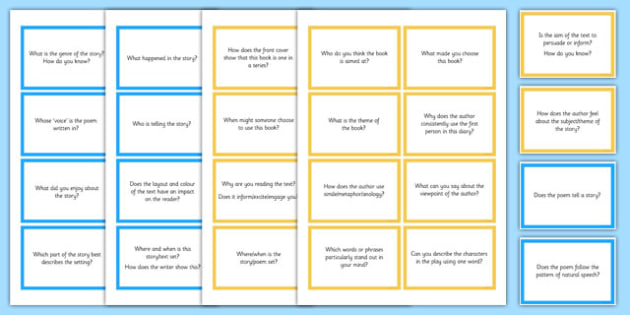 Guided Reading Question Cards - guided reading, question cards, cards, question