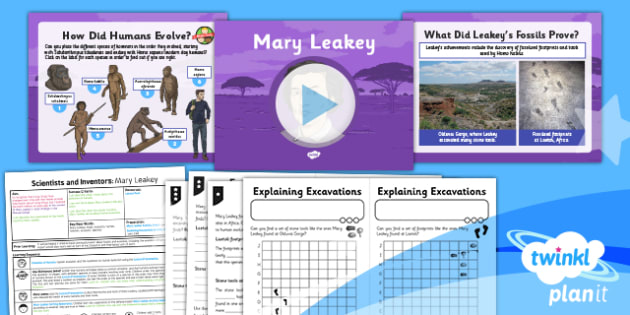 Science: Scientists and Inventors: Mary Leakey Year 6 Lesson Pack 5