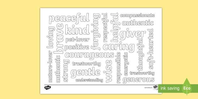 - Kind Words Mindfulness Coloring Page (teacher Made)