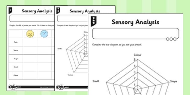 Global Food Activity Sheet Sensory Analysis - global, food, activity, worksheet