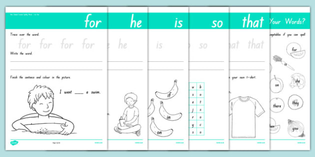 New Zealand Essential Spelling List Two Activity Sheets, worksheet