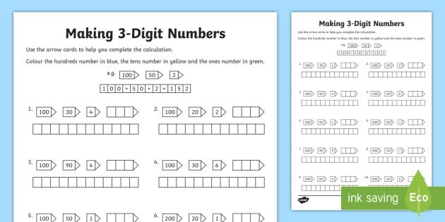 Making 3 digit numbers worksheet activity sheet making making 3 digit numbers worksheet activity sheet making make 2 digit ibookread Read Online