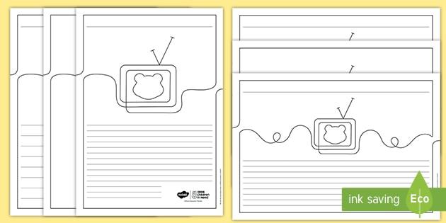 KS2 BBC Children in Need Writing Frames