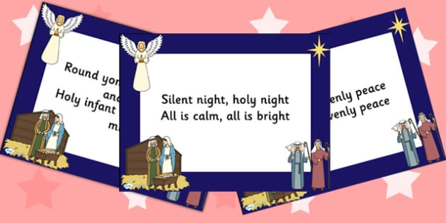 Silent Night Lyrics PowerPoint - christmas, powerpoint, lyrics