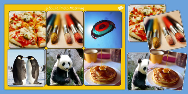 Initial p Sound Photo Matching Board and Cards - sounds, phonics