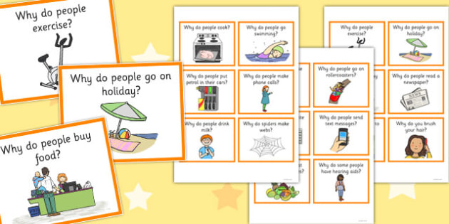 Why Question Cards 2 - why, question, cards, question cards, sen