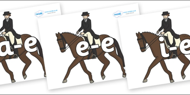 Modifying E Letters on Equestrian (Horses) - Modifying E, letters, modify, Phase 5, Phase five, alternative spellings for phonemes, DfES letters and Sounds