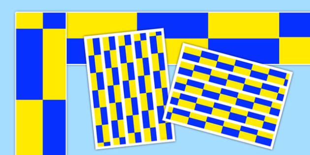 Police Car Blue and Yellow Check Display Borders - police car, blue and yellow check, display borders, display, borders