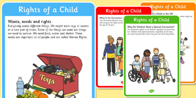 Rights of a Child Poster Pack - rights, child, poster, display, pack, rights of a child