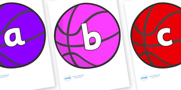 Phoneme Set on Basketball - Phoneme set, phonemes, phoneme, Letters and Sounds, DfES, display, Phase 1, Phase 2, Phase 3, Phase 5, Foundation, Literacy