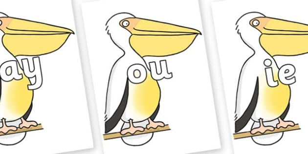 Phase 5 Phonemes on Pelican to Support Teaching on The Great Pet Sale - Phonemes, phoneme, Phase 5, Phase five, Foundation, Literacy, Letters and Sounds, DfES, display