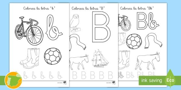 NEW * Hoja de colorear: La letra b - alfabeto, abecedario, be