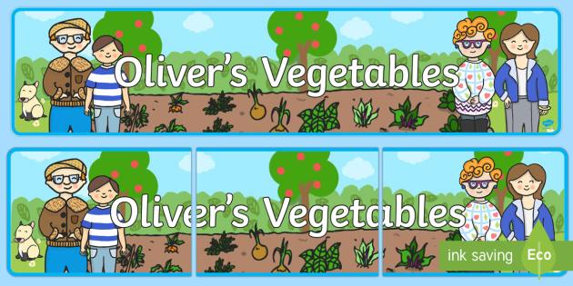 Oliver's Vegetables Display Banner - Oliver's vegetables, banner