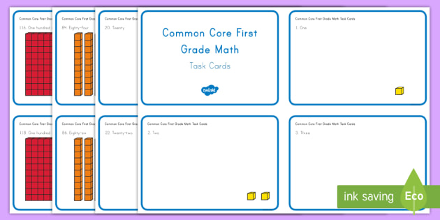 Common Core First Grade Math NBT A 1 Task Cards - Common Core, Place Value, Number, Number and Operations in Base Ten