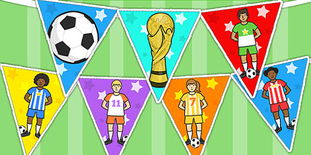 Football World Cup Bunting - football, world cup, sport, bunting
