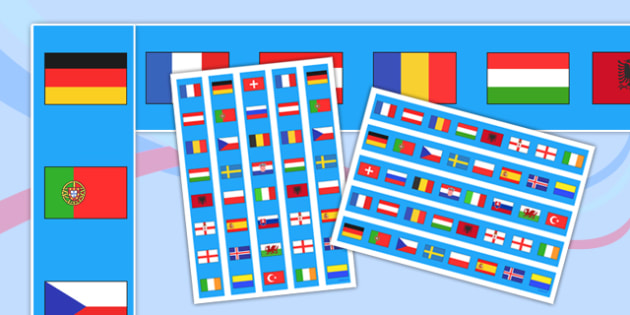 Euro 2016 Football Display Borders - euro 2016, football, display borders, display, borders