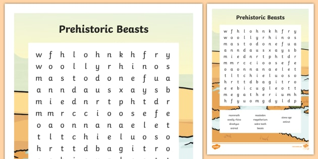 Prehistoric Beasts The Stone Age Ks2 History Resources