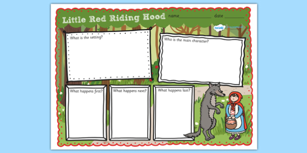 Little Red Riding Hood Story Review Writing Frame