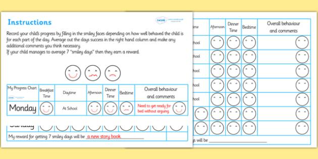 Home Behaviour Progress Chart - home behaviour progress chart, progress, home, behaviour, charts, chart, award, well done, reward, medal, rewards, school, general, achievement