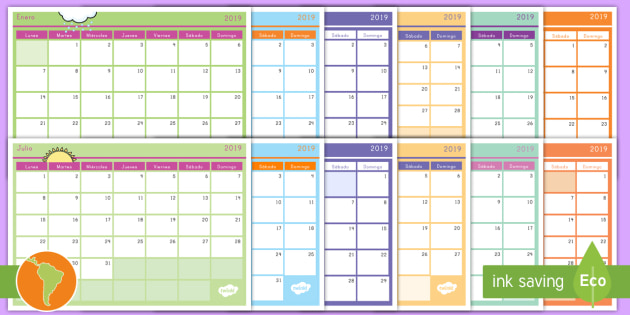 Calendario 2019 Para Imprimir.Calendario Mensual 2019 Calendario Calendario 2019 Calendario Para