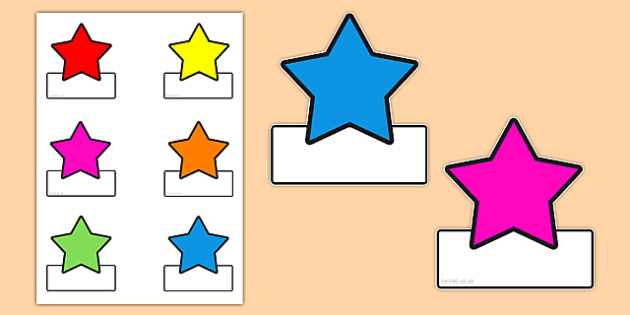 graphic regarding Free Printable Cubby Name Tags known as No cost! - Editable Star Labels - labels, star labels, editable