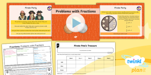 PlanIt Maths Y3 Fractions Lesson Pack Solve Problems Involving Fractions (2)