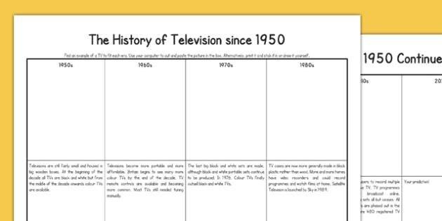 Television Since 1950 - tube, cathode, television, digital, analogue, satellite