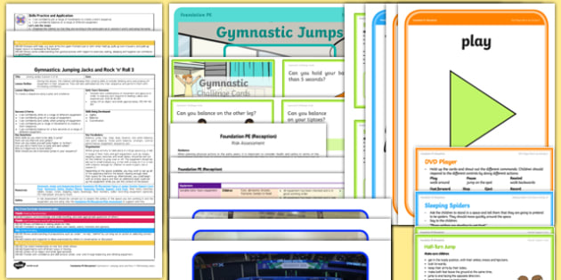 Foundation PE (Reception) - Gymnastics - Jumping Jacks and Rock 'n' Roll Lesson Pack 3: Joining Jumps - EYFS, PE, Physical Development, Planning