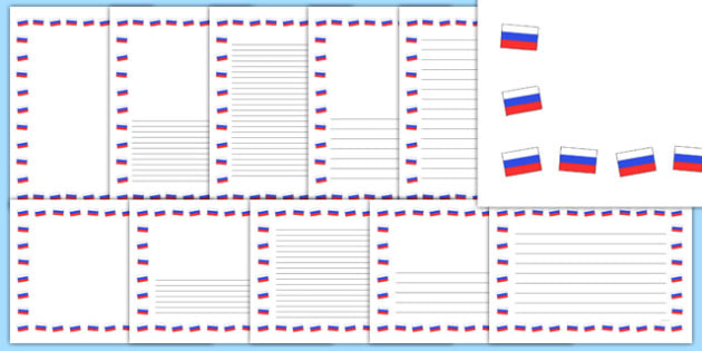 Russian Flag Page Borders - russian flag, page borders, page, border, russian, russia, flag