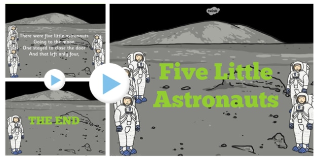 Five Little Astronauts Counting Song PowerPoint - powerpoints
