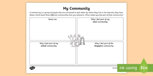 My Community Worksheet Activity Sheet Back School