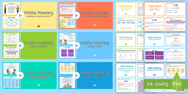 Year 5 Number and Place Value Maths Mastery Activities Resource