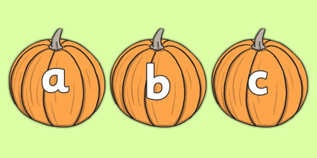 A-Z Alphabet on Pumpkins - Pumpkin, pumpkins, Alphabet frieze, Display letters, Letter posters, A-Z letters, Alphabet flashcards, harvest, fruit