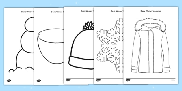 Basic Winter Template Resource Pack - basic, template, resource pack, resource, pack, winter