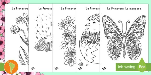 NEW * Hojas de colorear: Primavera - Mindfulness - hojas de