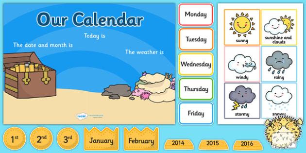 Under the Sea Themed Display Calendar - under the sea, sea themed, display calender, display, calender, sea calender, sea display, sea display calender