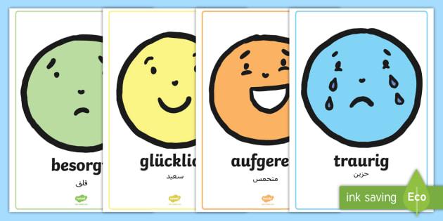 free  deutsch arabische emotionen gesichter poster für die