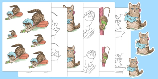 Beatrix Potter - The Story of Miss Moppet Size Ordering - beatrix potter, story, story book, tale, miss moppet, size ordering, size, order