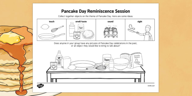 Pancake Day Reminiscence Session - Elderly, Reminiscence, Care Homes, Pancake Day