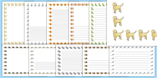 Pets Page Borders Pack - pets, page borders, pack, pets, animals