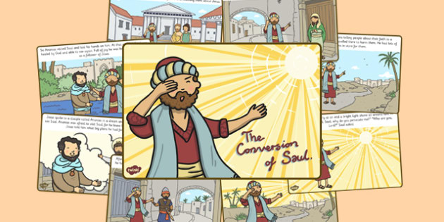The Conversion of Saul Story - conversion of Saul, religion, road to damascus