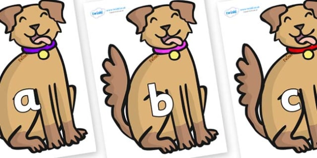 Phase 2 Phonemes on Dogs - Phonemes, phoneme, Phase 2, Phase two, Foundation, Literacy, Letters and Sounds, DfES, display