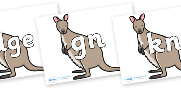 Silent Letters on Wallaby - Silent Letters, silent letter, letter blend, consonant, consonants, digraph, trigraph, A-Z letters, literacy, alphabet, letters, alternative sounds