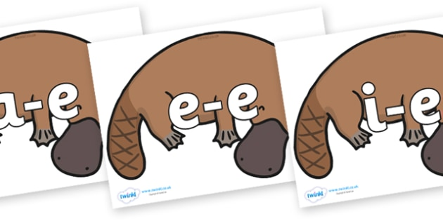 Modifying E Letters on Platypus - Modifying E, letters, modify, Phase 5, Phase five, alternative spellings for phonemes, DfES letters and Sounds